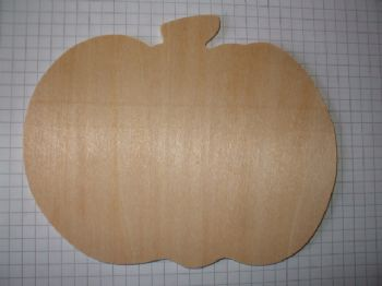 Birch Ply Large Wooden Pumpkin Wood Craft Shape